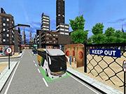 City Coach Bus Passenger Driving Bus Parking